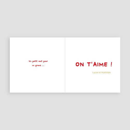 Cartes Multi-photos 3 & + - Trois clichés-Rouge 818 thumb