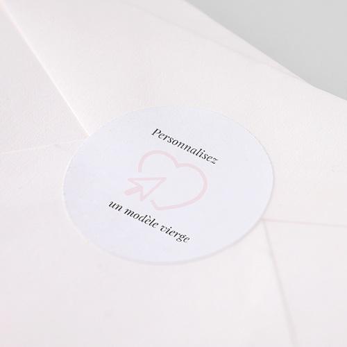 Etiquette Autocollante Naissance Sticker Naissance Rond 100% Création pas cher