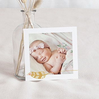 Carte remerciement naissance
