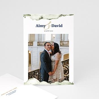 Carte remerciement mariage nouveautés à personnaliser