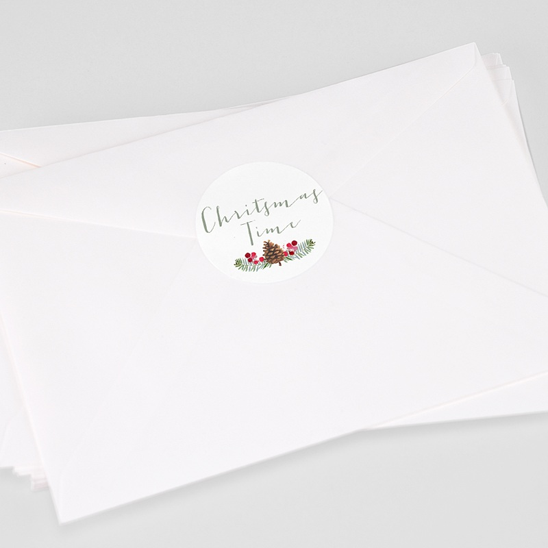 Etiquette Noël Pomme de pin
