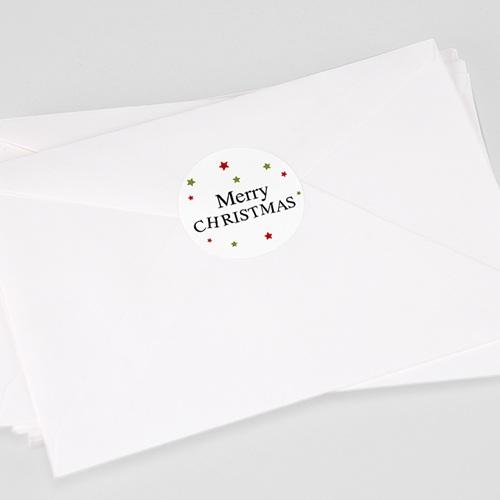 Etiquette Noël BARBE DU PÈRE NOEL