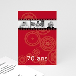 Faire-Part Anniversaire adulte Meilleur film - invitation Anniversaire