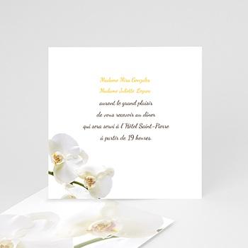 Carton Invitation Personnalisé - Mariage de l'eau et de l'orchidée - 2