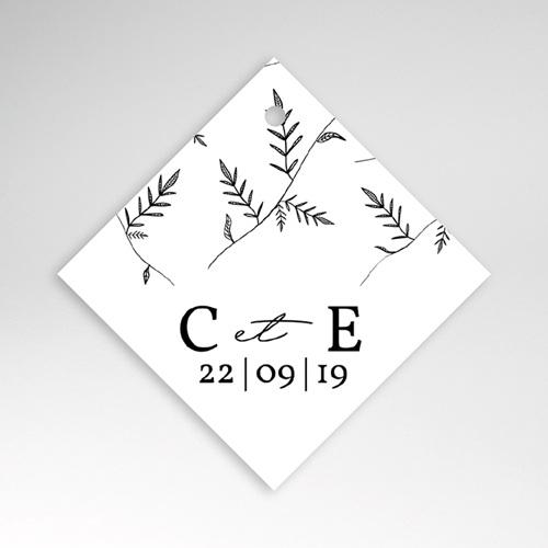 Etiquette Cadeau Mariage Kraft et Brindilles