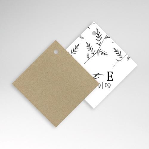 Etiquette Cadeau Mariage Kraft et Brindilles pas cher