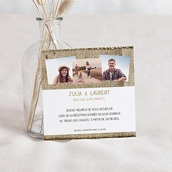 Carton Invitation Personnalisé - Diaporama du Bonheur - 2