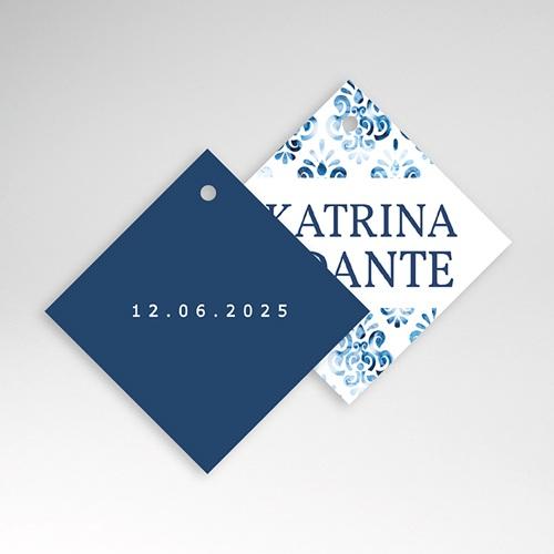 Etiquette Cadeau Mariage Azulejos Bleus pas cher