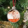 Boule Sapin Noël Personnalisée Photo, Plexi, diam. 7,5 cm