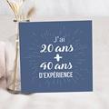 Carte invitation anniversaire 70 ans L'addition SVP 60 ans