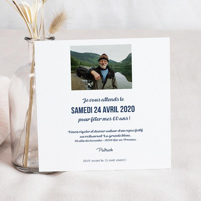 Carte invitation anniversaire 70 ans L'addition SVP 60 ans pas cher