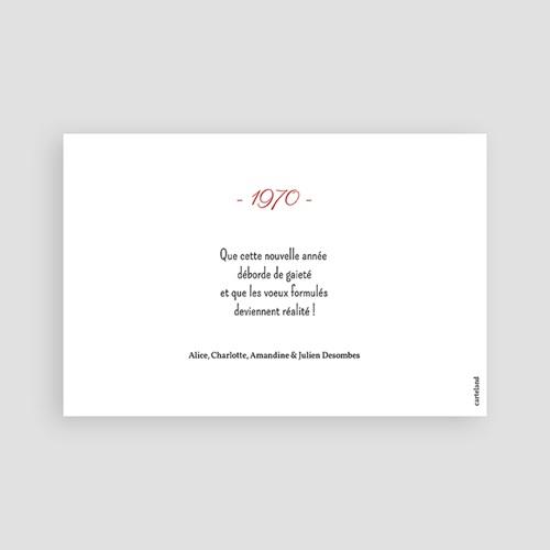 Carte de Voeux Dorure, photo, Happy New Year pas cher