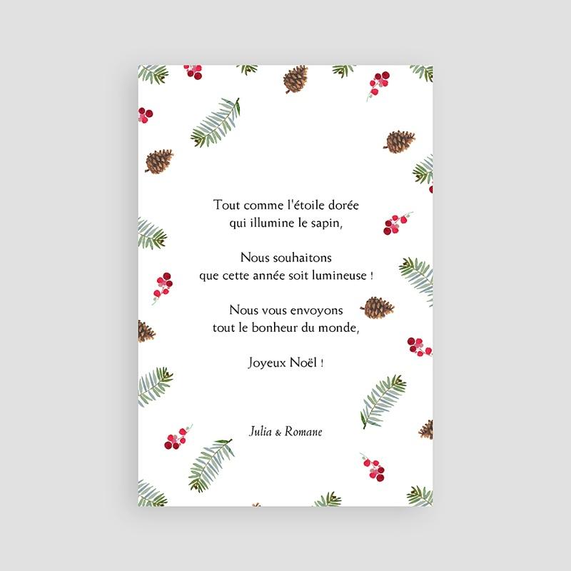 Carte de Voeux Joyeuses fêtes, rectangulaire, photo et forêt pas cher