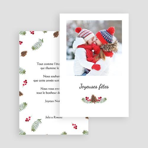 Carte de voeux Joyeuses fêtes, rectangulaire, photo et forêt gratuit