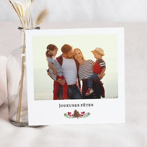 Carte de Voeux Joyeuses Fêtes, photo, carrée