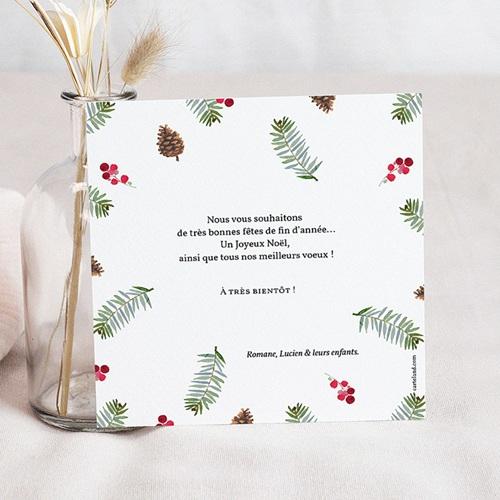 Carte de Voeux Joyeuses Fêtes, photo, carrée pas cher