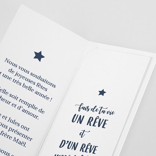 Carte de Voeux Marque-page, pochette, dorure & photos pas cher
