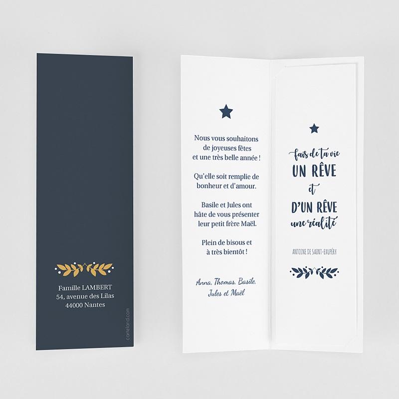 Carte de Voeux Marque-page, pochette, dorure & photos gratuit