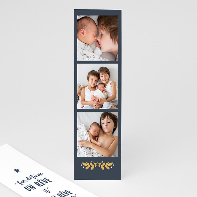 Carte de Voeux Marque-page, pochette, dorure & photos