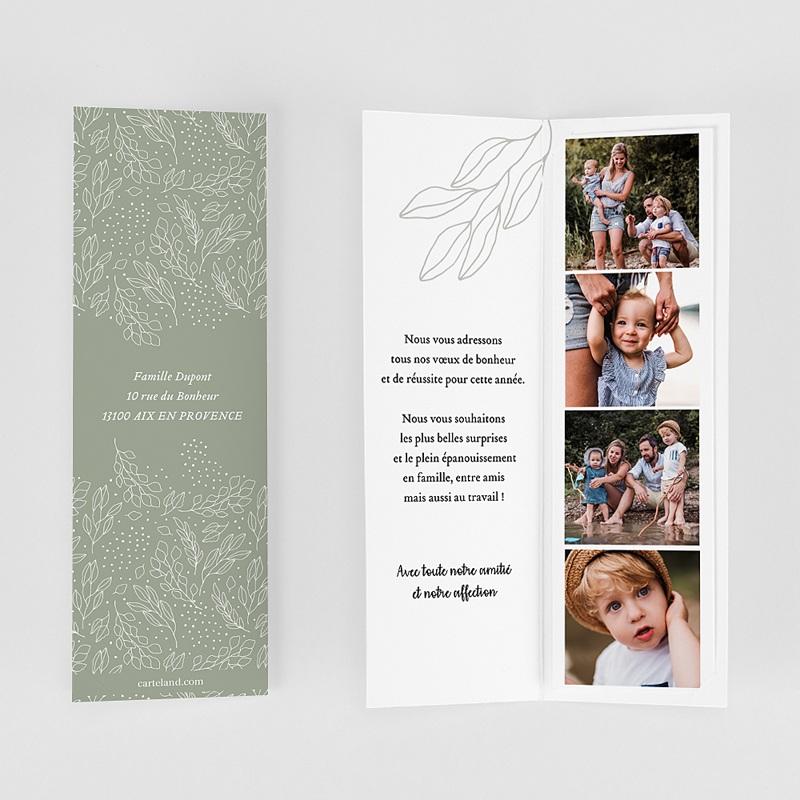 Carte de Voeux Marque-page, pochette, vert gratuit