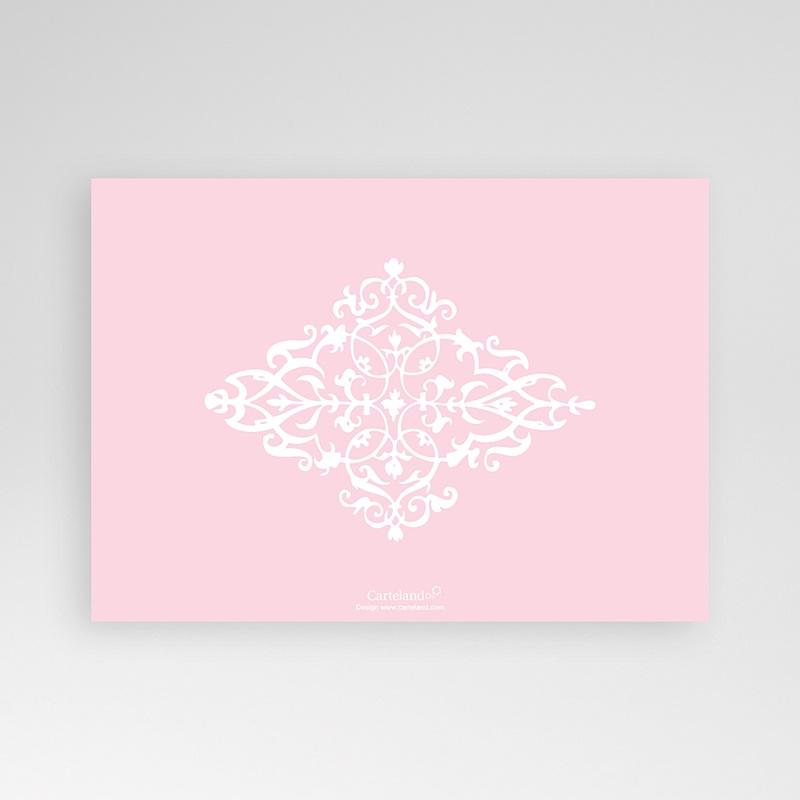 Faire-Part Naissance Fille - Design Royal - Rose 8289 thumb