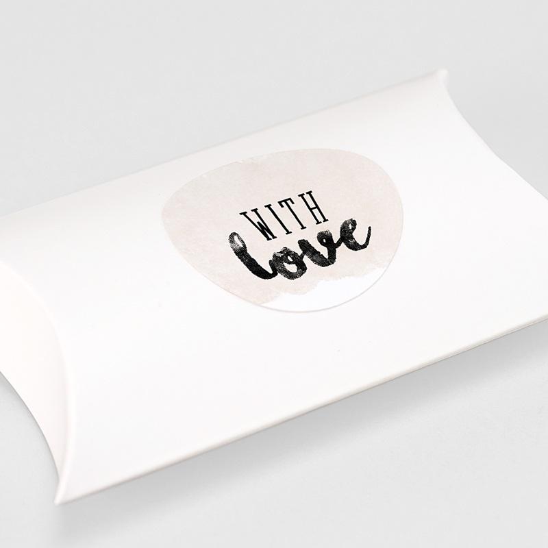Etiquette Autocollante Mariage With Love, Ø 4,5 cm gratuit