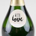 Etiquette Autocollante Mariage With Love, Ø 4,5 cm