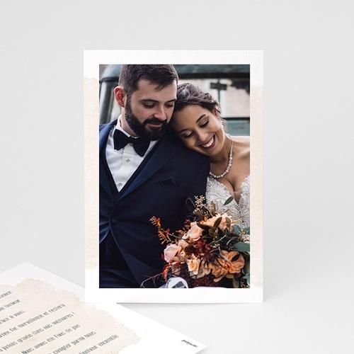Carte Remerciement Mariage Champêtre 2CV Citroen