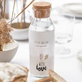 Étiquette bouteille mariage vin With Love, 8 cm x 13 cm gratuit