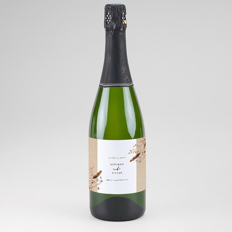 Etiquette Bouteille Champagne Brindilles Champêtres