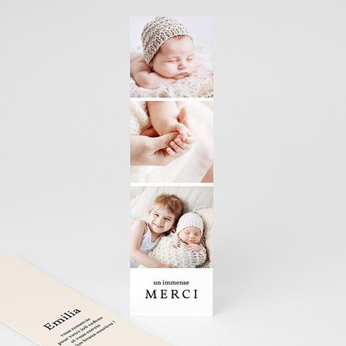 Remerciement Naissance Marque Page Multiphotos, 5,5 cm x 21 cm