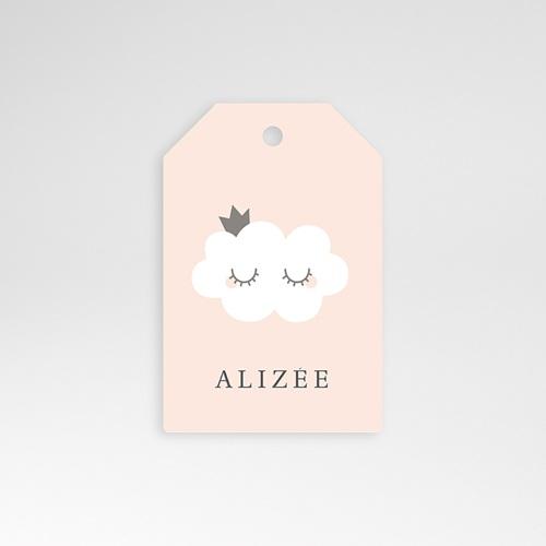 Etiquette Cadeau Naissance Little Cloud, 6 cm x 4 cm