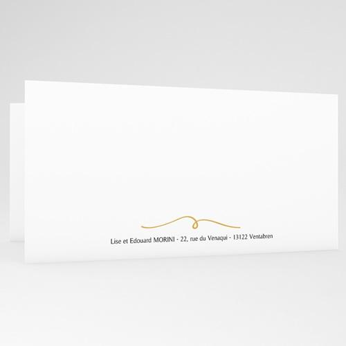 Carte Remerciement Mariage Photo Gris d'Amour, Photo, Dorure gratuit