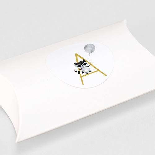 Etiquette Autocollante Naissance Initiale Moutarde, Ø 4,5 cm gratuit