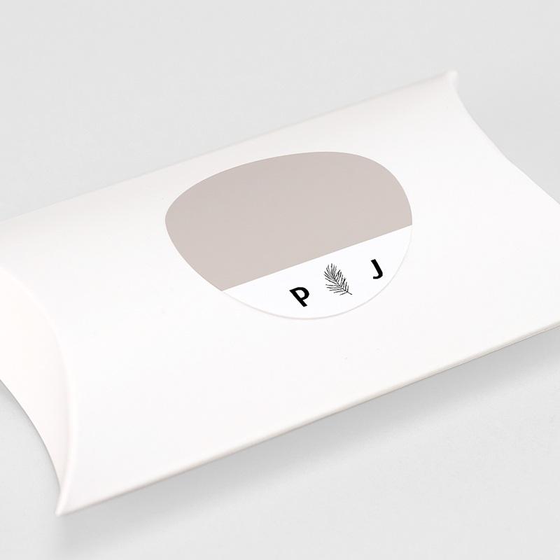 Etiquette Autocollante Mariage Moka Creme, Ø 4,5 cm gratuit