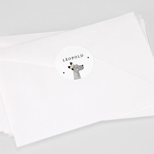 Etiquette Autocollante Naissance Lama Aquarelle, Ø 4,5 cm