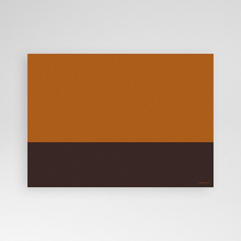 Carte Invitation Anniversaire Adulte Couleur Caramel pas cher