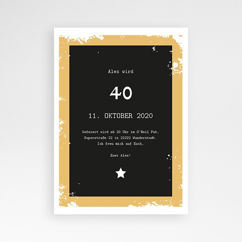 Carte Invitation Anniversaire Adulte Craft Beer, photo, 12 x 16,7 pas cher