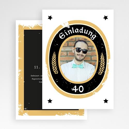 Carte Invitation Anniversaire Adulte Craft Beer, photo, 12 x 16,7 gratuit