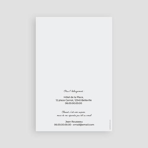 Carte Invitation Anniversaire Adulte Chiffres 40, photos, 10 x 15 cm pas cher