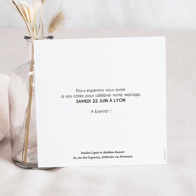 Save The Date Mariage Pailleté Or, 14,5 cm x 15 cm pas cher