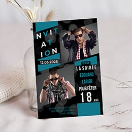 Carte invitation anniversaire adulte A la renverse