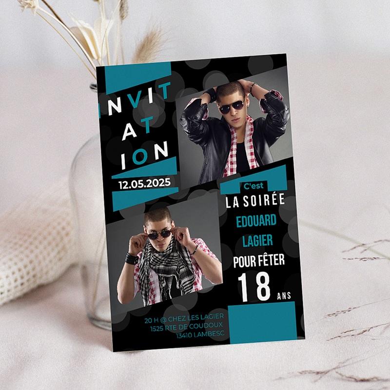 Invitation Anniversaire Adulte - A la renverse 8340 thumb