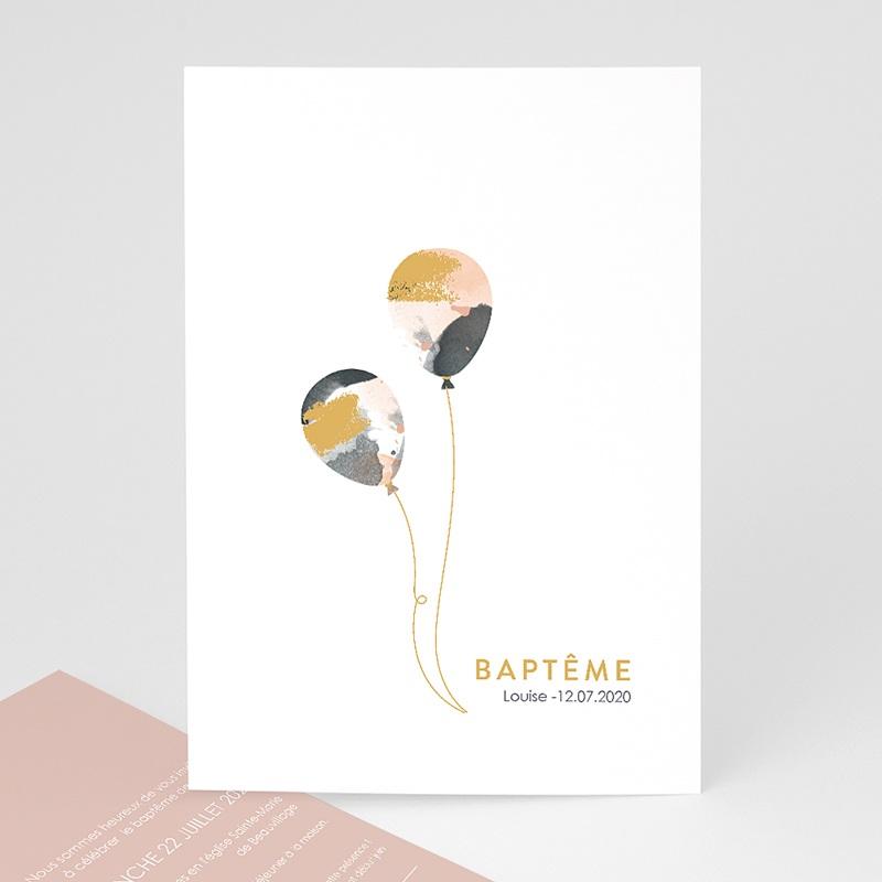 Faire-Part Baptême Ballons Abstraits