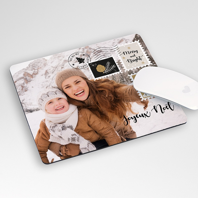 Tapis de Souris Personnalisé Photo Lettre de Noël, Photo,  19,6 x 23 cm