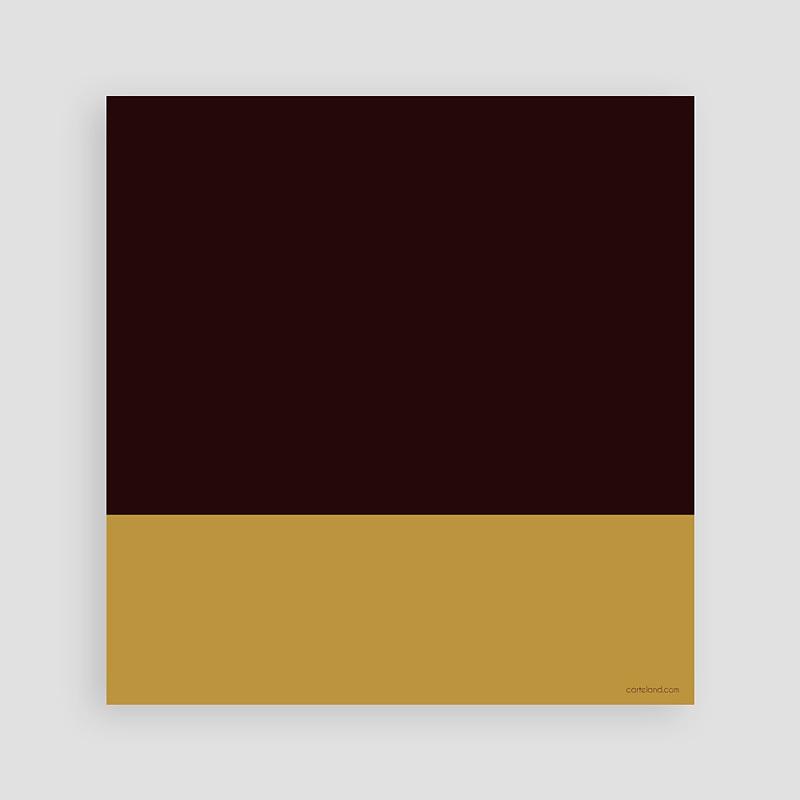 Carte invitation anniversaire adulte 40 ans - Chocolat & Or pas cher