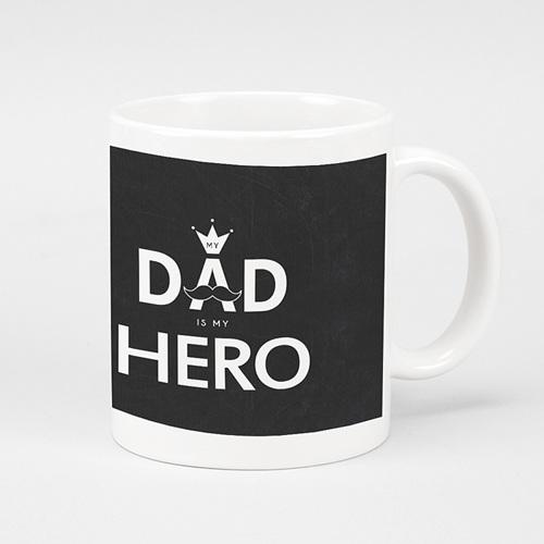 Mug Personnalisé Fête des Pères My hero, 1 photo
