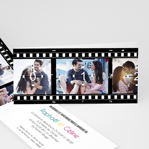 Faire-Part Mariage - Modèle Cinéma 8360 thumb