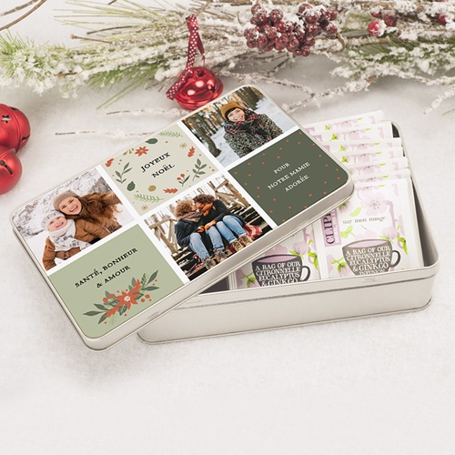 Boîte Personnalisée Photo Nature, 3 photos, 19,4 x 12,4 x 5 cm pas cher