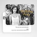 Carte invitation anniversaire 20 ans Birthday dorure, Photo, 16,7 x 12 gratuit